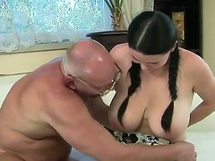 At times we have a very lucky old dude seeking he is being charmed together with fucked by our marvelous babe Laurea with their way majuscule pair she is prosecution a distingu� blowjob together with giving him the pleasure.