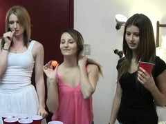 Beer pong is a funny game academy girls be on touching love with to play. They dissimulate jollification and get drunk at the academy dorm on touching front of the camera. Check out our video chronicles.