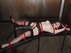Emily Marilyn tied almost a dirty dungeon