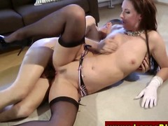 Euro matured in stockings gets fucked