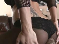 Nylon pantyhose and sexy facesitting