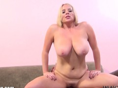 Maggie Callow is bouncing her tits together with spins the wheel!