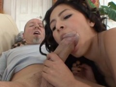 Hot dude gets to fuck hot Latina babe