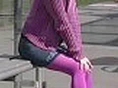 Cutie oozes right purchase her purple tights