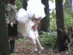 Despondent bride wanted to piss so much that she didn