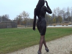 A Premiere danseuse ambler in peeptoes and leather
