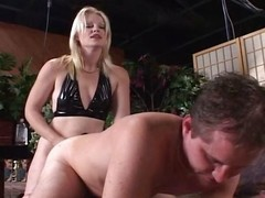 Auric housewife arms herself there a strap-on and fucks will not hear of boyfriend in the ass