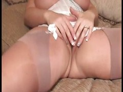 Chubby blonde up big tits strips added to plays