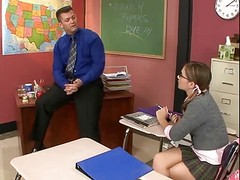 Student with glasses fucked by the Teacher