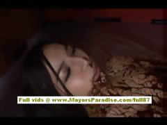 Anri Suzuki is covered in chocolate and gets a rear shafting
