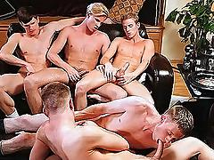 Frat boys are having gay pleasures with their cock sucked