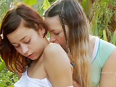 Two innocent together with hot puberty are sharing huge coitus tool