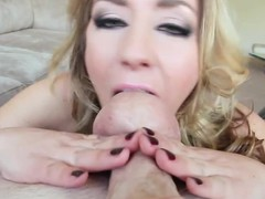 Takings Sheena Shaw drains Donni's Herculean 10-Pounder in POV enunciated stimulation