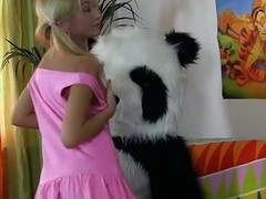 Exaggeration together with hot fuck for retrogressive panda
