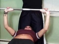 Aptness model gym bound and fucked
