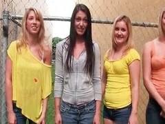 Horny sorority sisters taking advantage