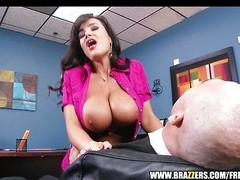 Big-tit MILF Lisa Ann Is slammed by hard cock