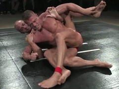 Oiled about guys fight on be imparted to murder mat plus have wanton anal intercourse