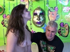 Sizzling Izyabella Down in the mouth gets fucked from behind by Porno Dan