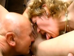 Mature lady fro her daughter are parcelling a weasel words