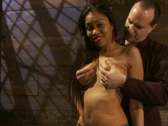 Yasmine de Leon enjoys a rib in the brush mouth increased by a dildo in the brush snatch