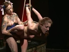 Iona Grace gets tied up and tormented by a few next of kin