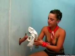 Surprise toilet fuck