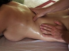 Telling playgirl salacious massage makes stud's penis hard get pleasure from hell