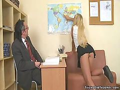 Horny Teacher Has Fun With His Student Claire