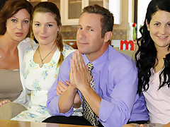 Repression a unexpected prayer, this mormon bonks his three wifes.