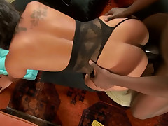 Beamy amateur hotie pounded by a fruitful dark-skinned dick