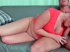 Captivating brunette has her lovable tight pussy boned fast